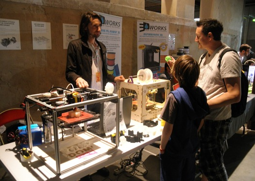 Maker Faire Paris, 3D Printing, digital object on demand