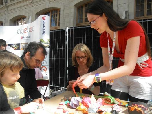 Maker Faire Paris, Florigami, Objets déco en origami